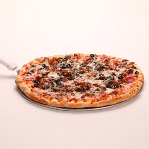 Pepperoni, Sausage, Mushrooms, Black Olives & Extra Cheese